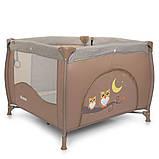 Детский игровой манеж-кровать квадратный El Camino ME 1030 Sand Len бежевый с чехлом, фото 5