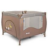 Детский игровой манеж-кровать квадратный El Camino ME 1030 Sand Len бежевый с чехлом, фото 6