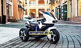 Детский трехколесный электро мотоцикл Mercedes на аккумуляторе M 3965L белый Трицикл для детей 3-6 лет, фото 3