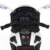 Детский трехколесный электро мотоцикл Mercedes на аккумуляторе M 3965L белый Трицикл для детей 3-6 лет, фото 5