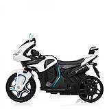 Детский трехколесный электро мотоцикл Mercedes на аккумуляторе M 3965L белый Трицикл для детей 3-6 лет, фото 6