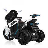 Детский трехколесный электро мотоцикл Mercedes на аккумуляторе M 3965L белый Трицикл для детей 3-6 лет, фото 7