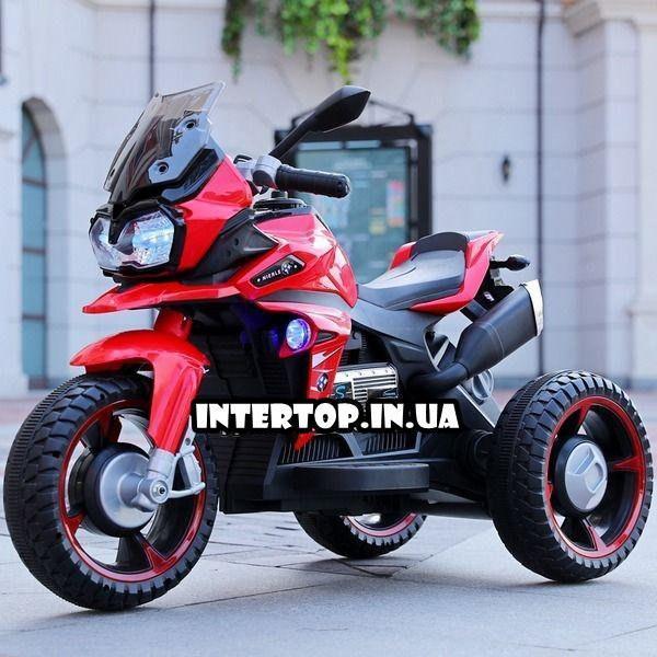 Дитячий триколісний електричний мотоцикл на м'яких колесах для дітей від 3 до 6 років Bambi M 4117EL червоний