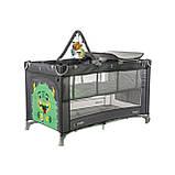 Дитяча манеж-ліжко з пеленальним столиком і 2 рівнями положення матраца CARRELLO Molto CRL-11604 Ash Grey, фото 2