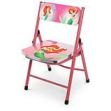 Детский складной столик со стульчиком Русалочка A19-MERM розовый, фото 5