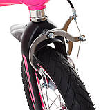 Дитячий двоколісний велосипед 14 дюймів на магнієвої рамі Profi Проективної LMG14126 рожевий. Для дітей 3-5 л, фото 5