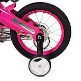 Дитячий двоколісний велосипед 14 дюймів на магнієвої рамі Profi Проективної LMG14126 рожевий. Для дітей 3-5 л, фото 6