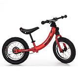Дитячий беговел велобіг від на гумових надувних колесах 12 дюймів PROF1 KIDS M 5450A-1 червоний, фото 2