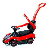 Дитячий толокар Pagani з батьківською ручкою Tilly T-937 червоний . Поворотні колеса, м'яке сидіння, фото 3