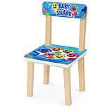 Деревянный столик и два стульчика  Цифры 501-107, фото 2