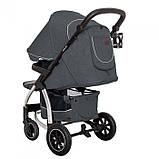 Детская прогулочная коляска - книжка с регулируемой спинкой CARRELLO Vista CRL-5511 Steel Gray темно-серая, фото 3