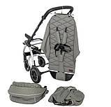 Детская прогулочная коляска - книжка с регулируемой спинкой CARRELLO Vista CRL-5511 Steel Gray темно-серая, фото 4