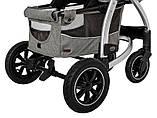 Детская прогулочная коляска - книжка с регулируемой спинкой CARRELLO Vista CRL-5511 Steel Gray темно-серая, фото 5