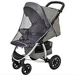 Детская прогулочная коляска - книжка с регулируемой спинкой CARRELLO Vista CRL-5511 Steel Gray темно-серая, фото 6