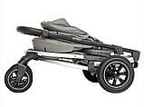 Детская прогулочная коляска - книжка с регулируемой спинкой CARRELLO Vista CRL-5511 Steel Gray темно-серая, фото 7
