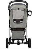Детская прогулочная коляска - книжка с регулируемой спинкой CARRELLO Vista CRL-5511 Steel Gray темно-серая, фото 8