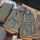 Набор органайзеров для путешествий Bagsmart Серый с оранжевым (FBBM0104087AN008BS), фото 10