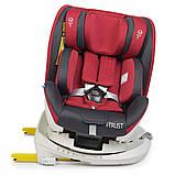 Дитяче автокрісло з системою Isofix від народження до 12 років, El Camino I-TRUST ME 1081 червоний, фото 2