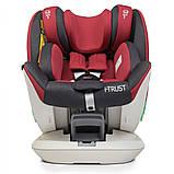 Дитяче автокрісло з системою Isofix від народження до 12 років, El Camino I-TRUST ME 1081 червоний, фото 4