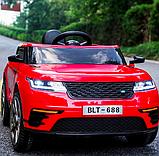 Детский электромобиль на аккумуляторе с пультом РУ Land Rover Лэнд Ровер Т 7834 красный, фото 3