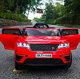 Детский электромобиль на аккумуляторе с пультом РУ Land Rover Лэнд Ровер Т 7834 красный, фото 4