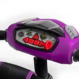 Дитячий триколісний велосипед коляска Baby Trike 6699 з ігровою панеллю і поворотним сидінням Фіолетовий, фото 4