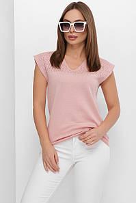 Женская футболка из вязки (192mrs)