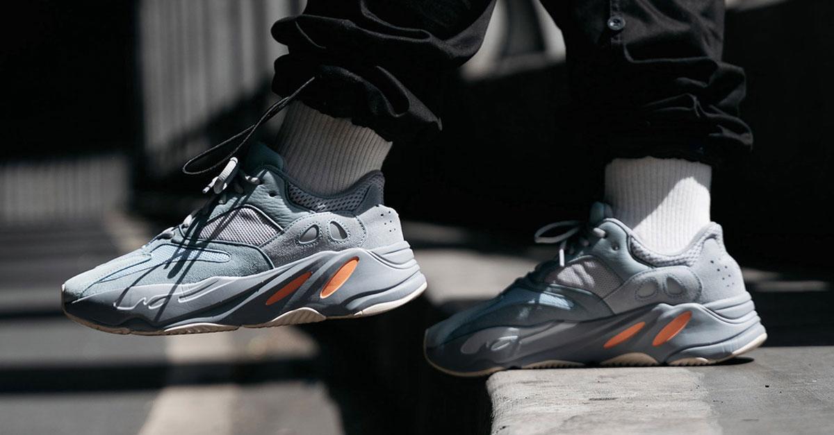 Мужские кроссовки в стиле Adidas Yeezy Boost 700 Inertia СЕРЫЕ (Реплика ААА+)