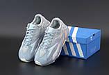 Мужские кроссовки в стиле Adidas Yeezy Boost 700 Inertia СЕРЫЕ (Реплика ААА+), фото 4