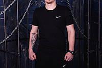 Спортивная мужская футболка черная Nike (Турция Кулир)