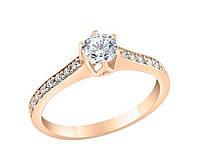 Золотое кольцо на предложение с фианитами 1,18 грамм 20\24\07\220