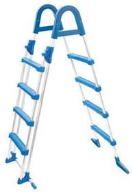Лестница Azuro Safety для сборных бассейнов высотой 1,22 м (4 + 4 ступеньки)