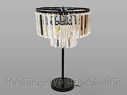 Настольная лампа Hupfen с хрустальными подвесками 1026-T-BK