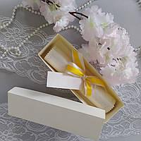 Приглашение свиток перламутровый с кружевом в коробочке, фото 1