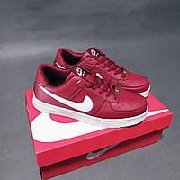 Мужские кроссовки Nike Air Force бордовые