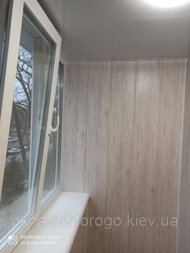 Балкон под ключ Буча - остекление профилем WDS