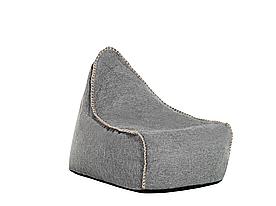 Серый пуф для кресла LINEN DROP
