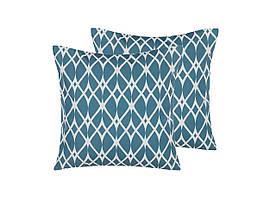 Набор из 2 садовых подушек 45 x 45 см, синий ANAGNI