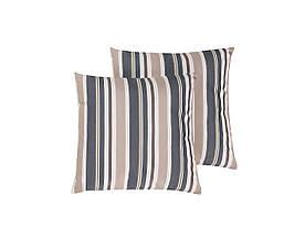 Набір з 2 смугастих садових подушок 40 x 40 см, синій, бежевий