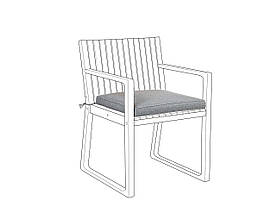 Подушка на садовий стілець SASSARI Grey