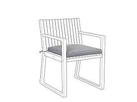Подушка на садовый стул SASSARI Grey