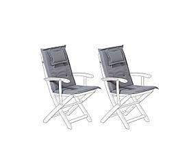 Набор из 2 графитовых подушек для садовых стульев MAUI