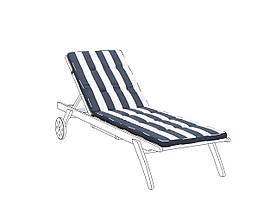 CESANA темно-синьо-біла подушка для шезлонга