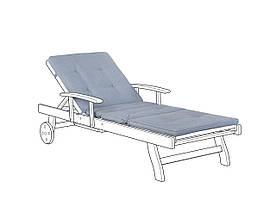 Подушка для садового шезлонга синяя TOSCANA