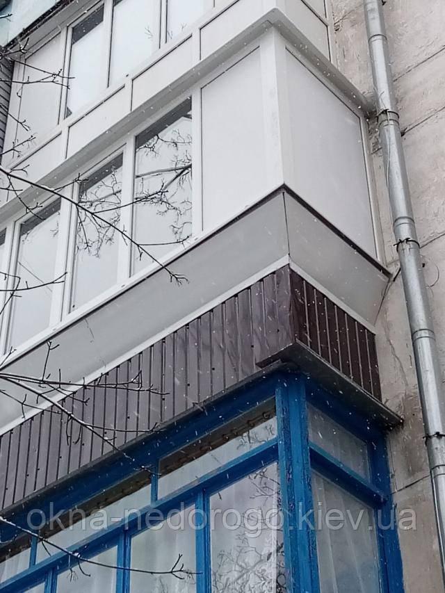 Балкон під ключ Гостомель - обшивка балкона девером
