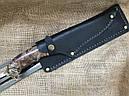 """Шампура подарочные с бронзовыми ручками """"Дикие звери"""" с вилкой и ножом, в кожаном колчане, фото 5"""