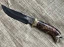 """Шампура подарочные с бронзовыми ручками """"Дикие звери"""" с вилкой и ножом, в кожаном колчане, фото 6"""