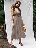 Расклешенное платье-миди без рукавов  в горошек   ЛЕТО, фото 4