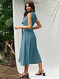 Расклешенное платье-миди без рукавов  в горошек   ЛЕТО, фото 9