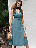 Расклешенное платье-миди без рукавов  в горошек   ЛЕТО, фото 8